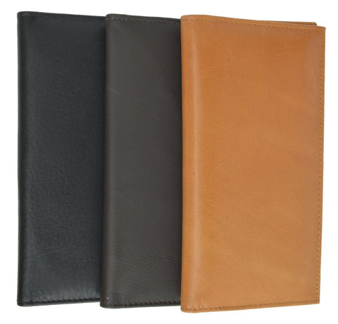Unisex High Quality Checkbook Size Leather Wallet - Assorted Colors - WholesaleLeatherSupplier.com  - 2