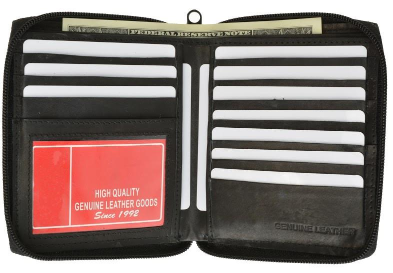 Zip around Genuine Leather Bi-fold