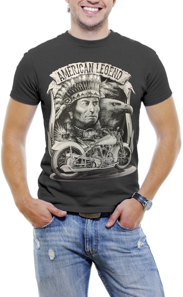 AFONiE America Legend High Quality Large Graphic Print T-Shirts