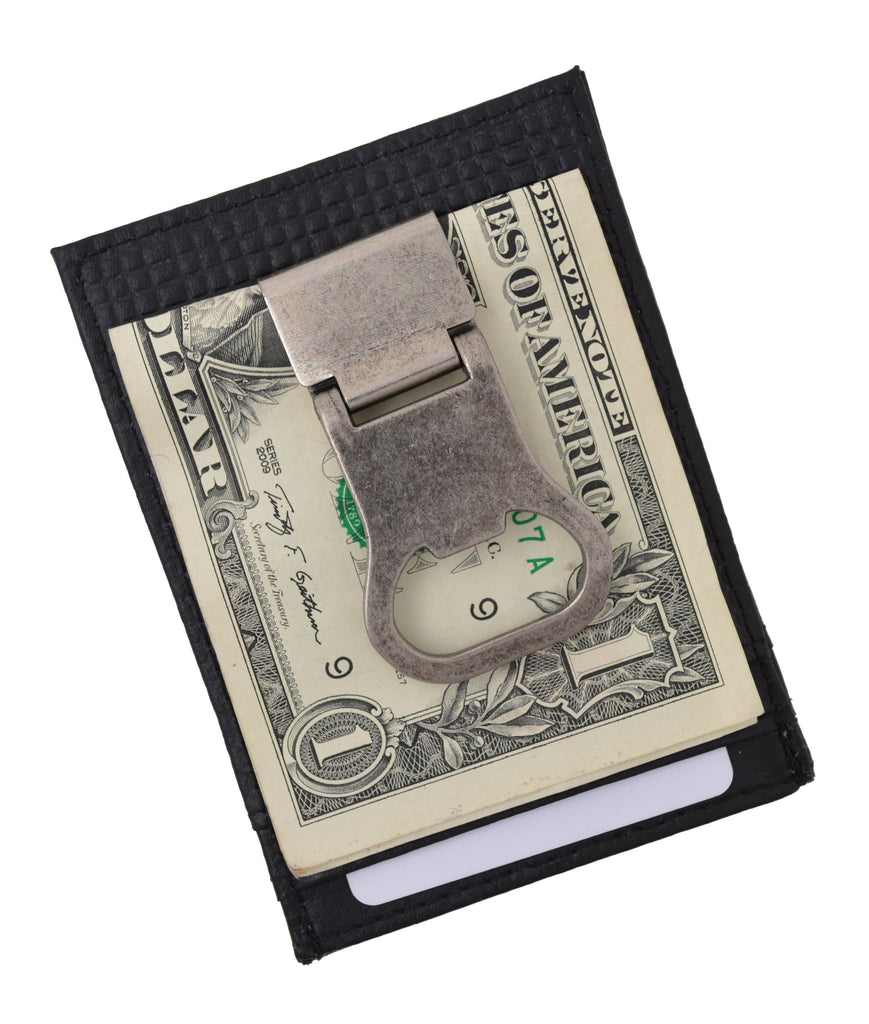 Genuine Leather Drinking Money Clip Wallet