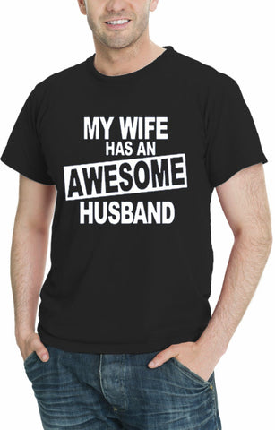 AFONiE Awesome Husband Men Graphic T-Shirt