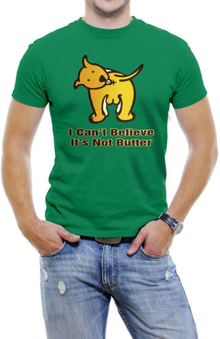 AFONiE I Can't Believe It's Not Butter Funny Men T-Shirt Soft Cotton Short Sleeve Tee