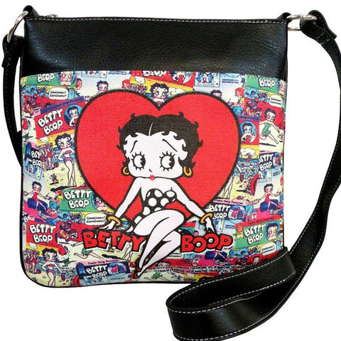 Licensed Betty Boop Bubbly Crossbody Bag