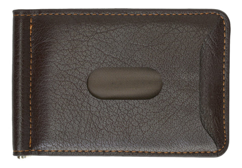 Men's Genuine Leather Bi-Fold Money Clip Wallet - WholesaleLeatherSupplier.com  - 5