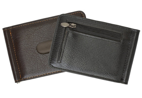 Men's Genuine Leather Bi-Fold Money Clip Wallet - WholesaleLeatherSupplier.com  - 4