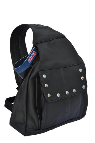 Compact Soft Leather Backpack - WholesaleLeatherSupplier.com