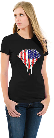 USA Dripping Diamond High-Quality Cotton T-Shirt