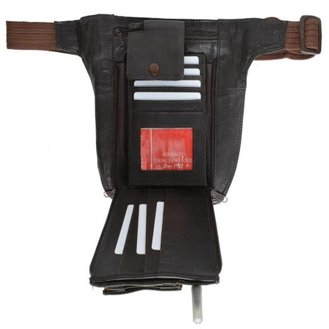 Waist Pouch Leather Bag