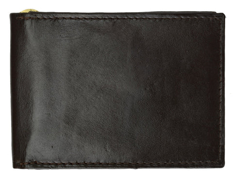 AFONiE Slim Leather Money Clip Wallet