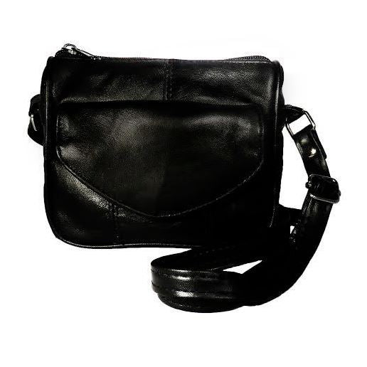 Small Leather Carry All Crossbody Purse by AFONiE