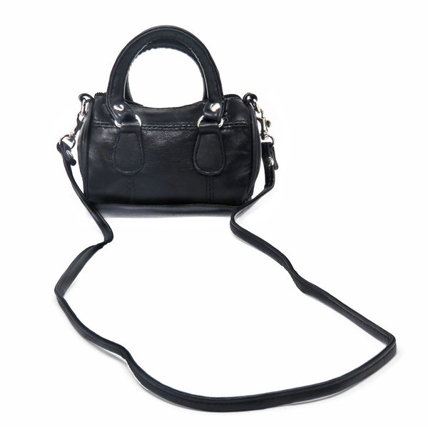Mini Leather Satchel Bag