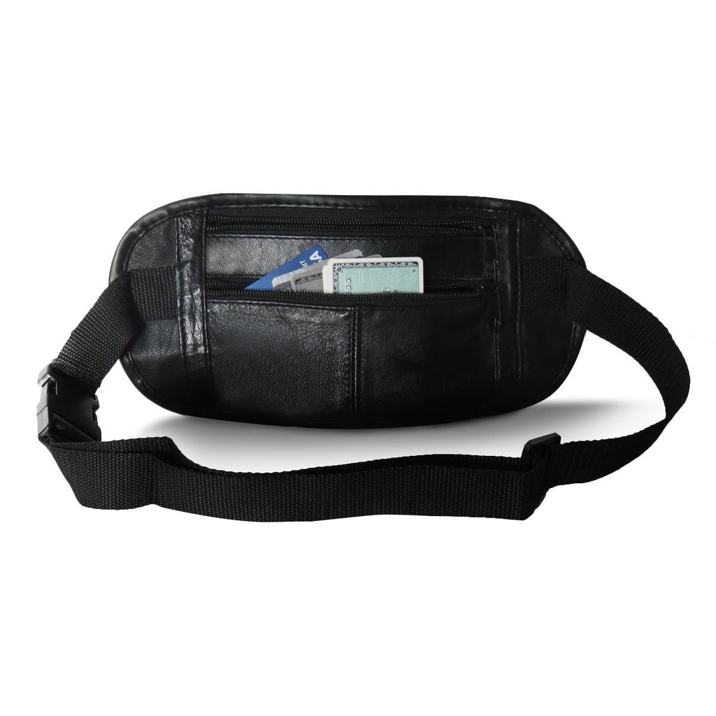 Slim Leather Pouch Bag Strap