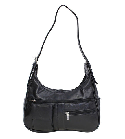 Soft Genuine Leather Shoulder Bag - WholesaleLeatherSupplier.com  - 3