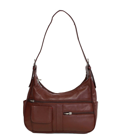 Soft Genuine Leather Shoulder Bag - WholesaleLeatherSupplier.com  - 6