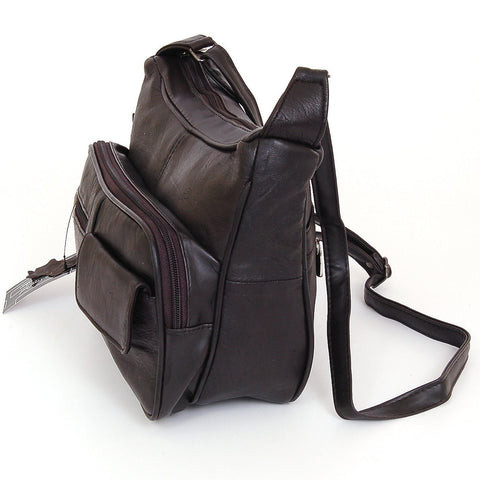 A Soft Genuine Leather Purse - Brown Color - WholesaleLeatherSupplier.com