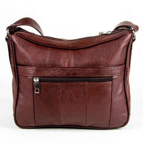 Soft Genuine Leather Purse - Burgundy Color