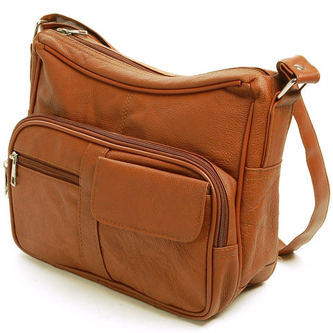 A Soft Genuine Leather Purse - Brown Color - WholesaleLeatherSupplier.com  - 6