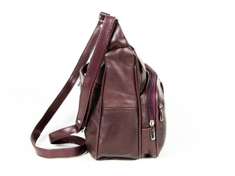 Soft Genuine Leather Purse - Brown Color