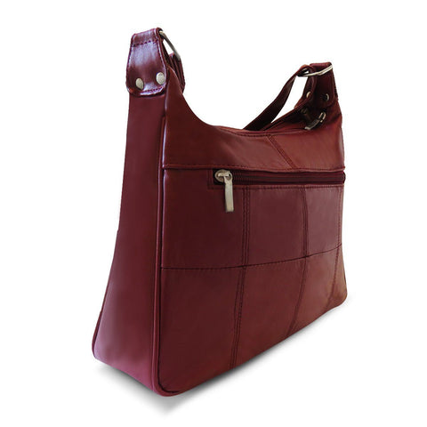 Sleek Multi Pockets Leather Shoulder Handbag