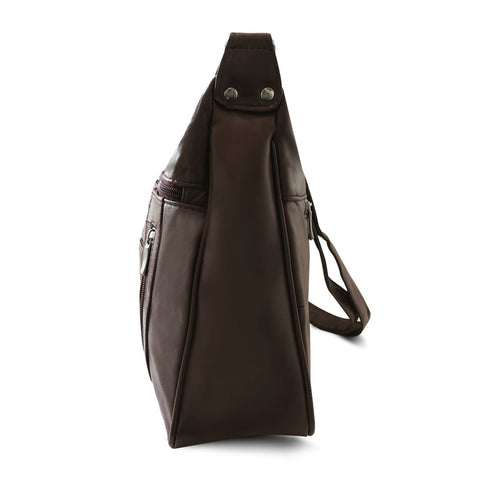 Lambskin Leather Purse - Brown Color