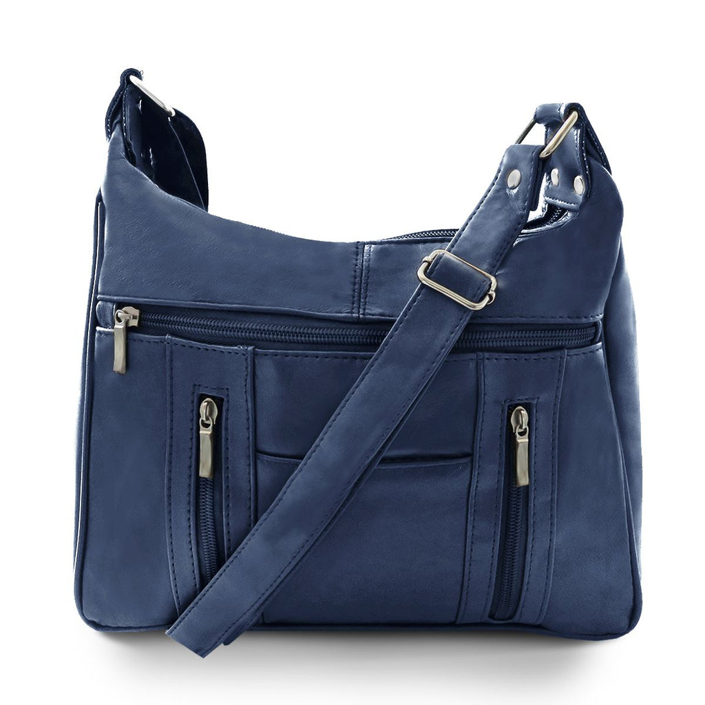 Lambskin Leather Purse - Navy Color