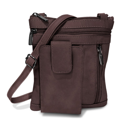 On The Go Genuine Leather Messenger Bag