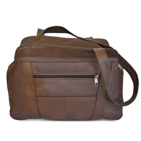 Fine Soft Mexican Leather Shoulder Bags - Brown Color