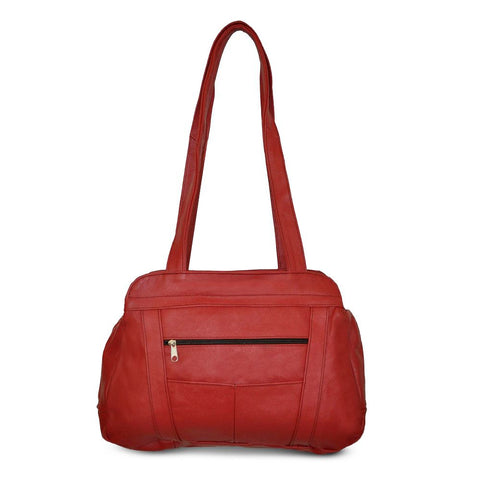 Fine Soft Mexican Leather Shoulder Bags - Red Color