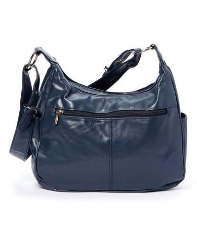 Soft Leather Buckle Accent Classic Blue Purse - WholesaleLeatherSupplier.com  - 8