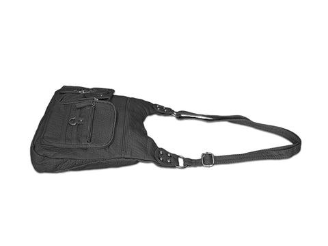 Chic Washable Vegan Leather Series - Casual Messenger Bags - Silver - WholesaleLeatherSupplier.com  - 17