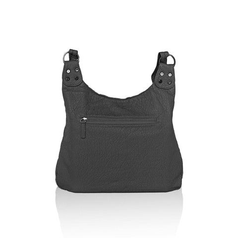 Washable Vegan Leather Series - Casual Messenger Bags - Black - WholesaleLeatherSupplier.com  - 3