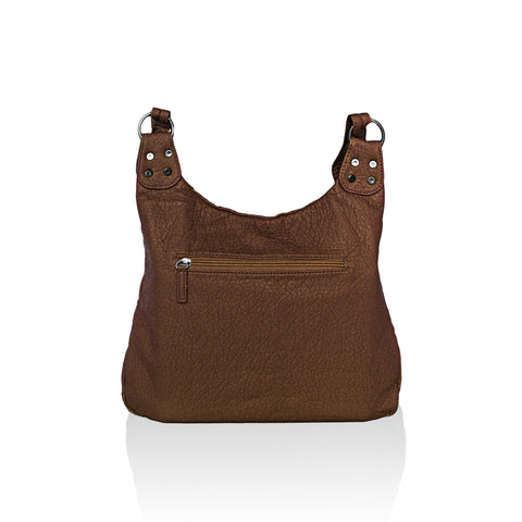 Chic Washable Vegan Leather Series - Casual Messenger Bags - Brown - WholesaleLeatherSupplier.com  - 3