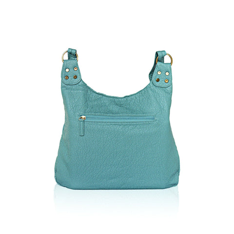 Washable Vegan Leather Series - Casual Messenger Bags - Green - WholesaleLeatherSupplier.com