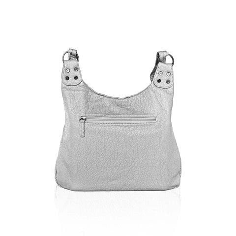 Chic Washable Vegan Leather Series - Casual Messenger Bags - Silver - WholesaleLeatherSupplier.com  - 3