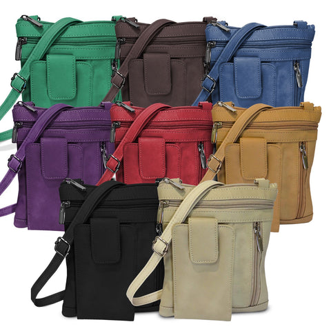 Genuine Leather On-the-Go Crossbody - 8 Colors