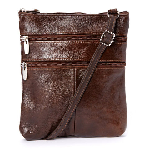 Genuine Leather Multi-Pocket Crossbody Purse Bag - Purple - WholesaleLeatherSupplier.com  - 13