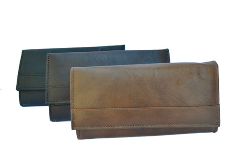 Super Soft Leather 7-Inch Framed Clutch Wallet - WholesaleLeatherSupplier.com  - 2