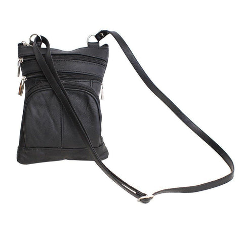 Leather Cross-Body Bag - WholesaleLeatherSupplier.com  - 4