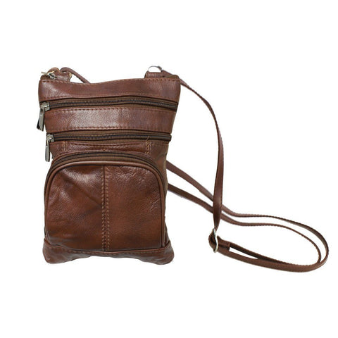 Leather Cross-Body Bag - WholesaleLeatherSupplier.com  - 3
