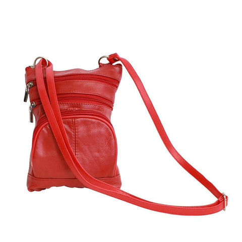Leather Cross-Body Bag - WholesaleLeatherSupplier.com  - 5
