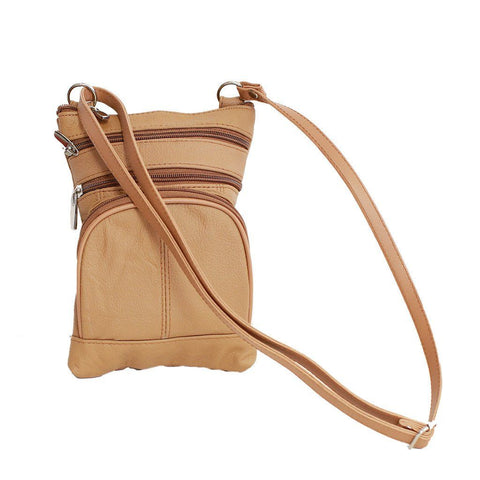 Leather Cross-Body Bag - WholesaleLeatherSupplier.com  - 9