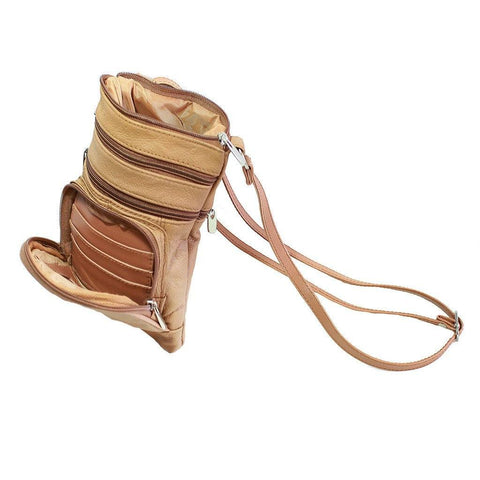Leather Cross-Body Bag - WholesaleLeatherSupplier.com  - 6