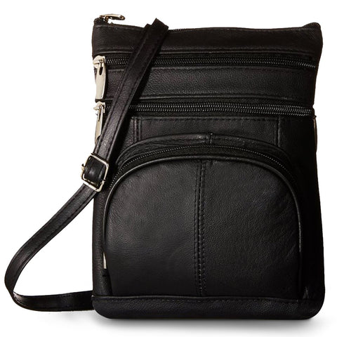 A Soft Leather Crossbody Bag with Wallet Organizer. Less stress on your back more ways to spice up your outfit.