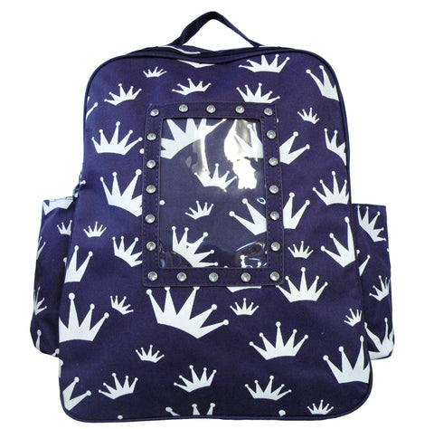 AFONie Large Backpack Crown Print