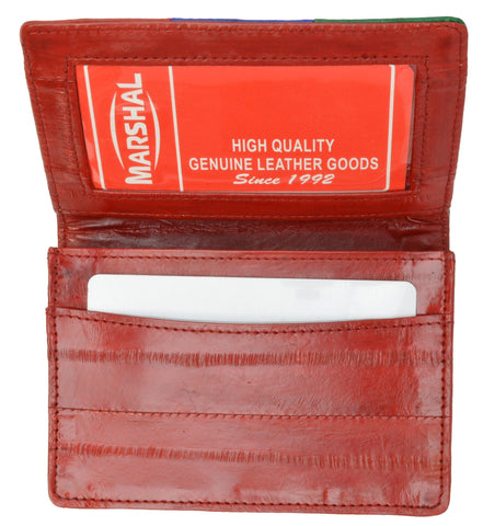 Wallet - Genuine Eel Skin Business Card Holder - WholesaleLeatherSupplier.com  - 25