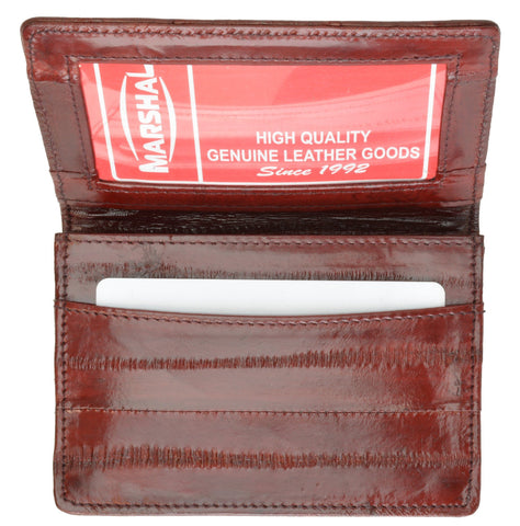 Wallet - Genuine Eel Skin Business Card Holder - WholesaleLeatherSupplier.com  - 6