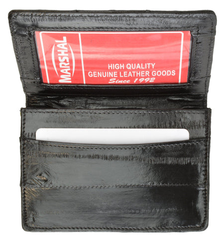 Wallet - Genuine Eel Skin Business Card Holder - WholesaleLeatherSupplier.com  - 10