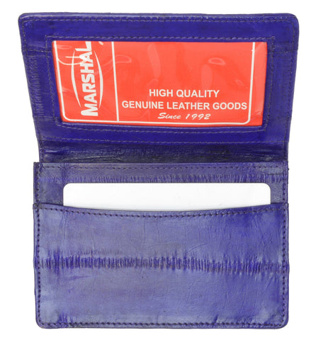 Wallet - Genuine Eel Skin Business Card Holder - WholesaleLeatherSupplier.com  - 13