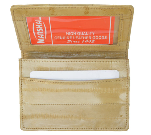 Wallet - Genuine Eel Skin Business Card Holder - WholesaleLeatherSupplier.com  - 5