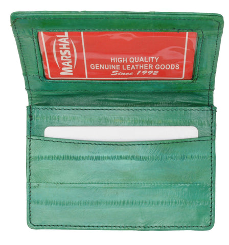 Wallet - Genuine Eel Skin Business Card Holder - WholesaleLeatherSupplier.com  - 19